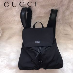 Authentic GUCCI Logo Canvas Backpack